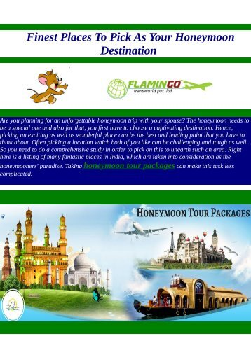 Make the most of your Honeymoon with the Package Tours