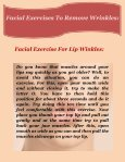 Effective Facial Exercises To Remove Wrinkles  - Page 3