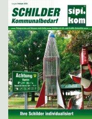 Schilder Katalog | SIPIRIT GmbH Kommunalbedarf | Qualitätsprodukte