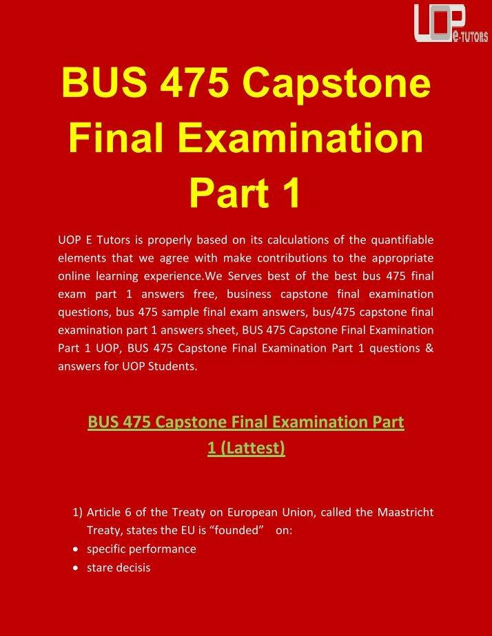 bus final exam answer 1