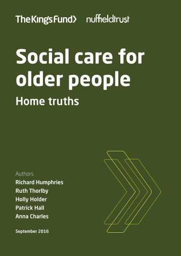 Social care for older people