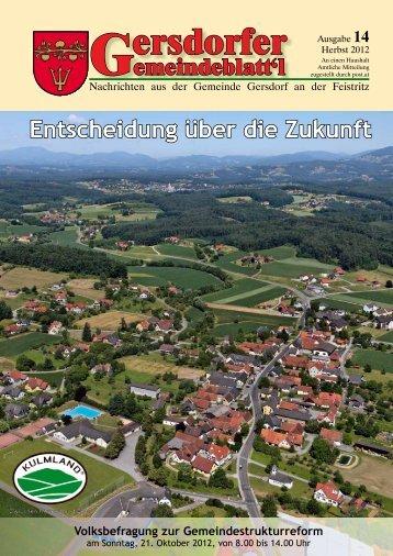 zeitung_herbst_2012_.. - Gemeinde Gersdorf an der Feistritz