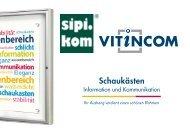 Vinticom Schaukästen | SIPIRIT GmbH Kommunalbedarf | Qualitätsprodukte