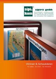 Vitrinen & Schaukästen| SIPIRIT GmbH Kommunalbedarf | Qualitätsprodukte