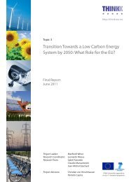 Transition Towards a Low Carbon Energy System by