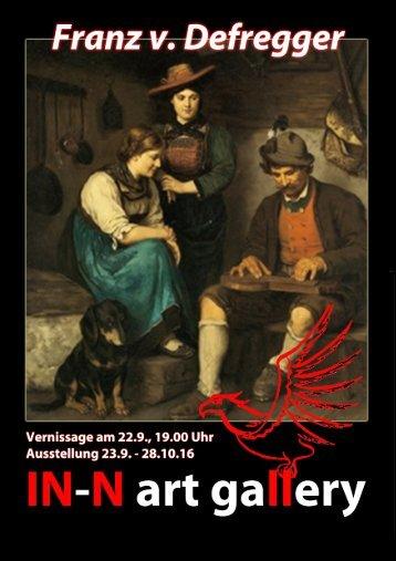 """Einladung Vernissage """"Werke von Franz von Defregger"""""""