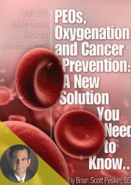 PEOs, Oxygenation, and Cancer Prevention