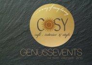 COSY & WITTENSTEIN Eventkalender 2016