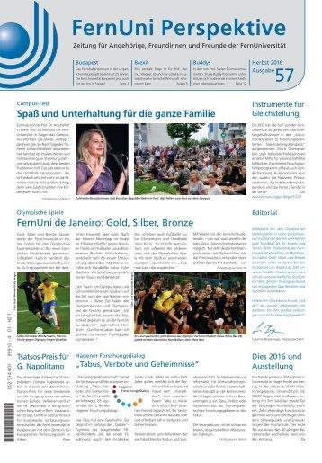 FernUni Perspektive Nr. 57 / Herbst 2016