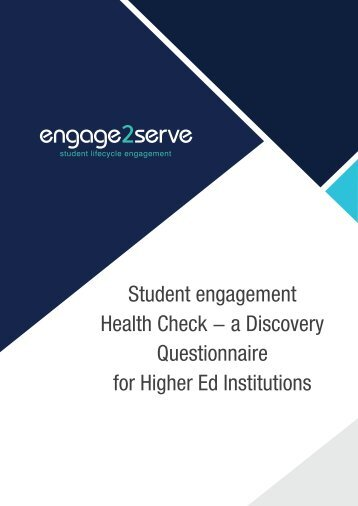 Engage2Serve Discovery Questionnaire and Aspirational Analysis- Student engagement