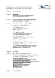 Jahrestagung der Initiative Naturwissenschaft & Technik