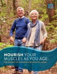 NOURISH YOUR MUSCLES AS YOU AGE