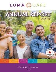 Lumacare Annual Report, 2014-15