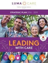 Leading with Care: Lumacare Strategic Plan, 2016-19