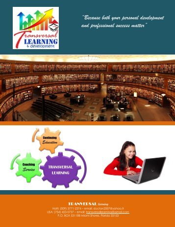 Transversal Learning - Catalog 2016-2017