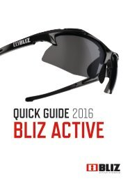 Bliz Active Quick Guide 2016