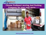 Moving Company Washington DC| ProSmart Movers