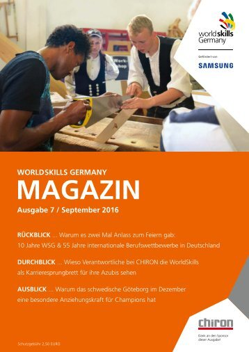 WorldSkills Germany Magazin September 2016