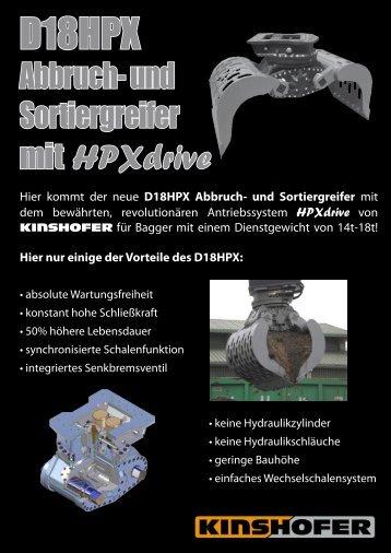D18HPX Abbruch- und Sortiergreifer - Kinshofer