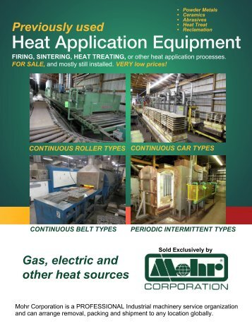 2015 Heat Application equipment
