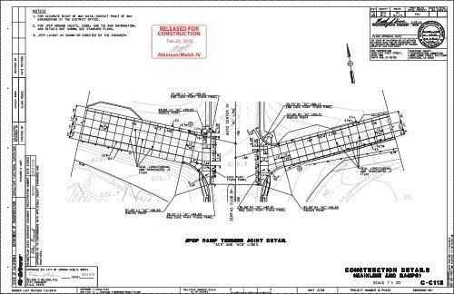C-C113 JPCP Ramp Termini Joint Detail - AC3 & AC4 Lines