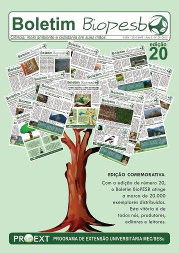 Boletim BioPESB 2016 - Edição 20