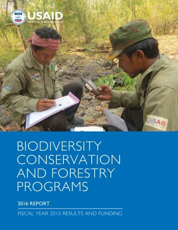 CONSERVATION AND FORESTRY PROGRAMS
