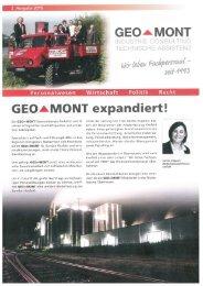Kundenzeitschrift GEO-MONT September 2016