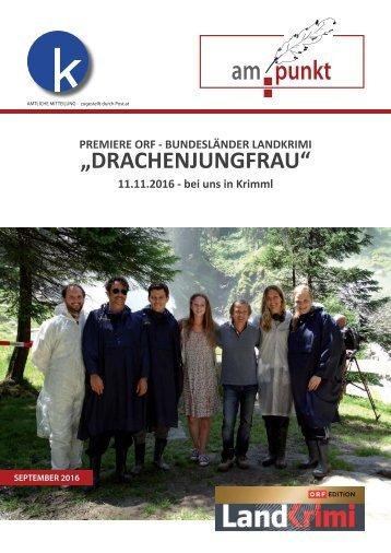 Gemeindenachrichten Krimml Herbst 2016