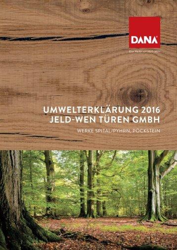 Umwelterklärung 2016