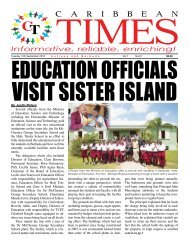 Caribbean Times 91st Issue - Tuesday 13th September 2016