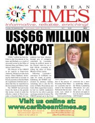 Caribbean Times 93rd Issue - Thursday 15th September 2016