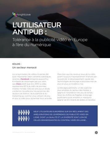 L'UTILISATEUR ANTIPUB