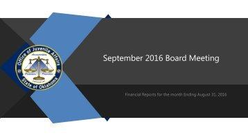September 2016 Board Meeting