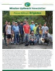 Mission UpReach Newsletter - August 2016