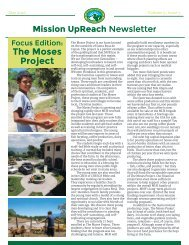 Mission UpReach Newsletter - May 2016