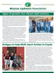 Mission UpReach Newsletter - September 2016