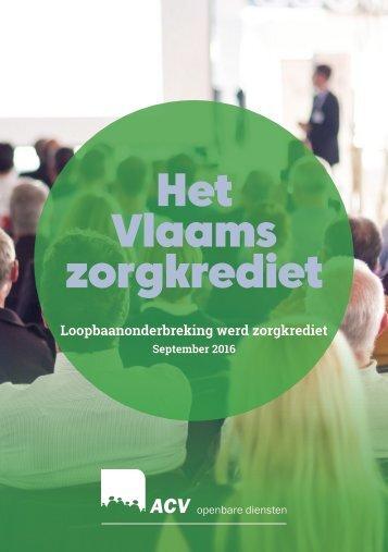 Het Vlaams zorgkrediet