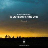 MILJÖREDOVISNING 2015