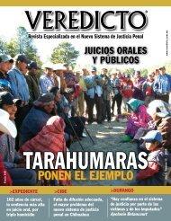 VEREDICTO. ponen el ejemplo. juicios orales y públicos. Revista Especializada en el Nuevo Sistema de Justicia Penal