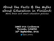 About the Facts & the Myths about Education in Finland