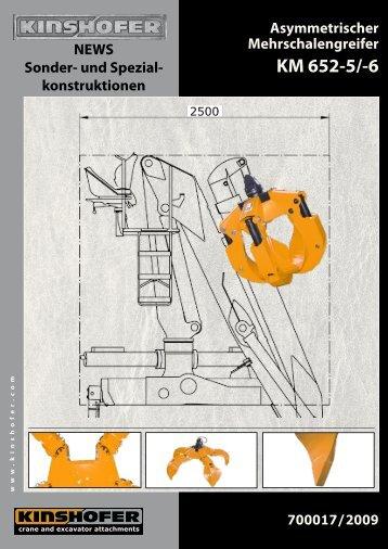 Asymmetrischer Mehrschalengreifer - Kinshofer