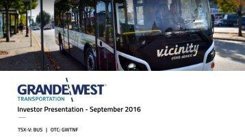 Investor Presentation - September 2016