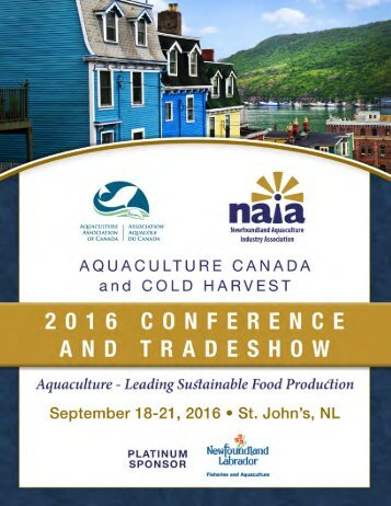 Aquaculture Canada and Cold Harvest Conference Program 2016