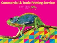 Commercial & Trade Printing Services - Chameleon Print Group - Australia