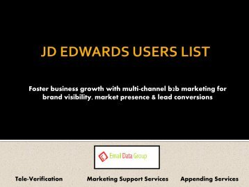 JD Edwards Customers List from Email Data Group