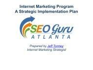 Internet Marketing Program - A strategic Implementation Plan