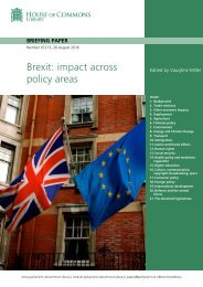 Brexit impact across policy areas