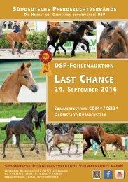 DSP-Fohlenauktion Last Chance am 24. September 2016
