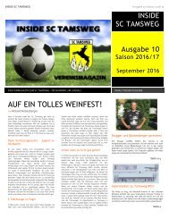 Ausgabe 10 - INSIDE SC TAMSWEG